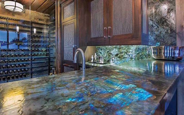 Lemurian Big Blue Granite Contemporary Kitchen
