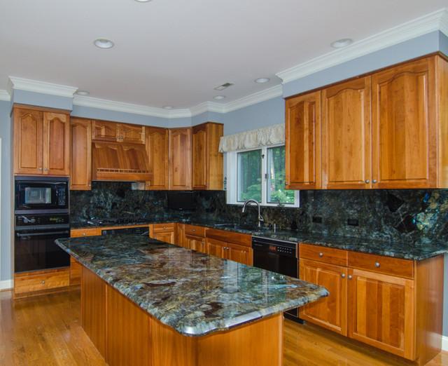 Lemurian Blue Labradorite Kitchen - Traditional - Kitchen - dc metro ...