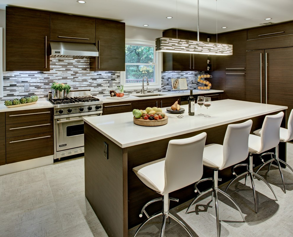 Leonia Nj Contemporary Kitchen New York By Modiani Kitchens