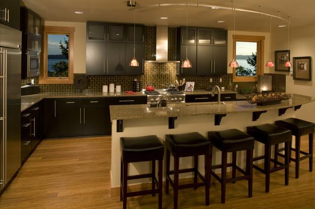 Leschi custom modular display home contemporary-kitchen