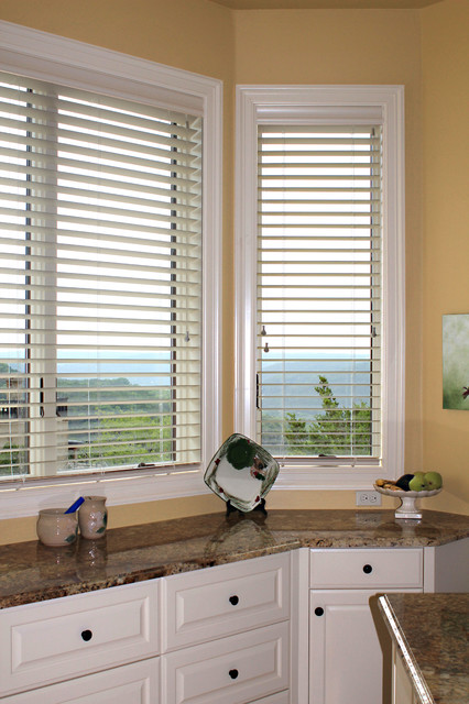 Leslie hill country house contemporary kitchen other for Window fashions of texas