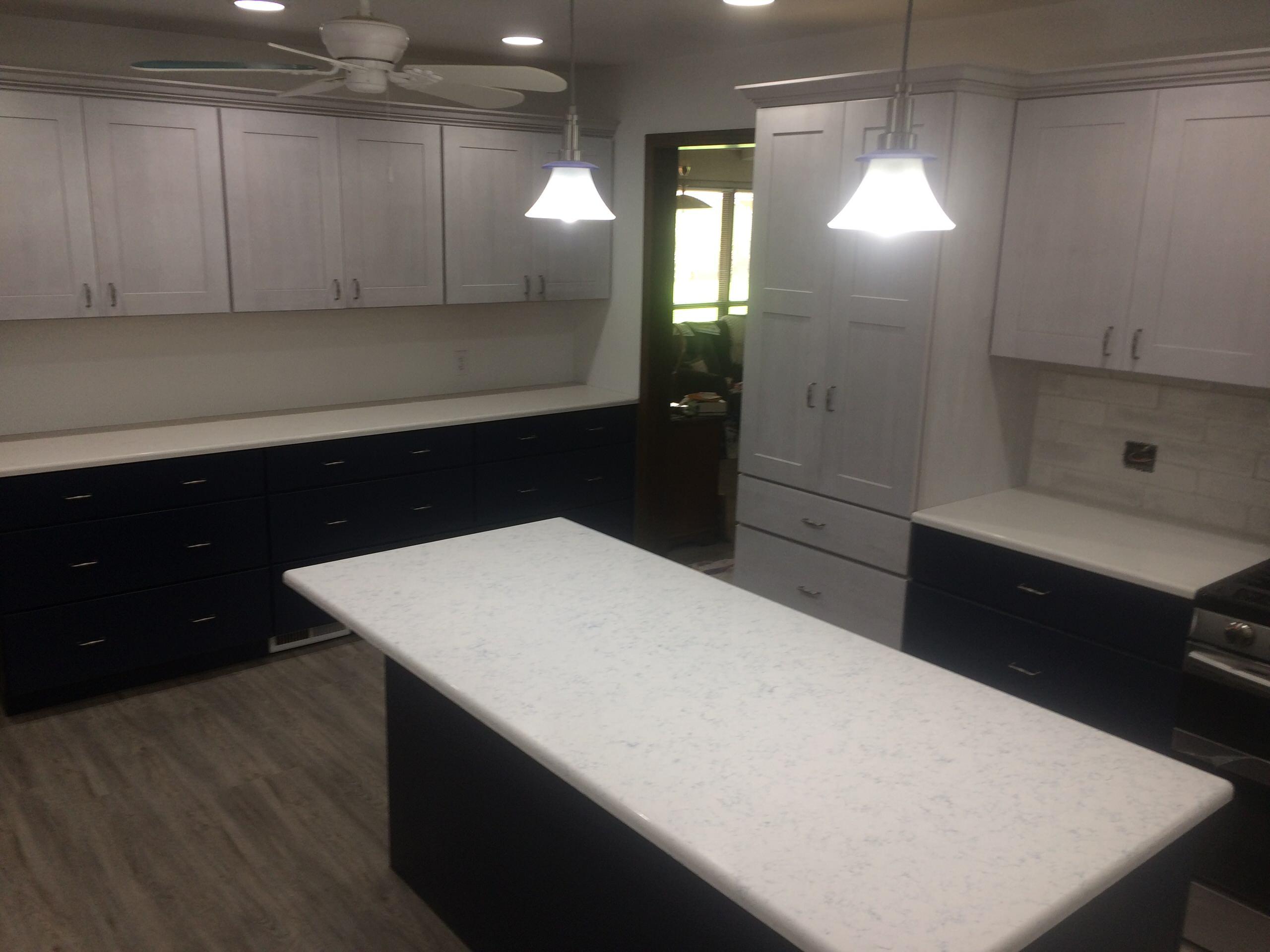 Let the Blue Shine through Kitchen