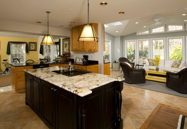 Family friendly kitchen for Sitting area in kitchen ideas