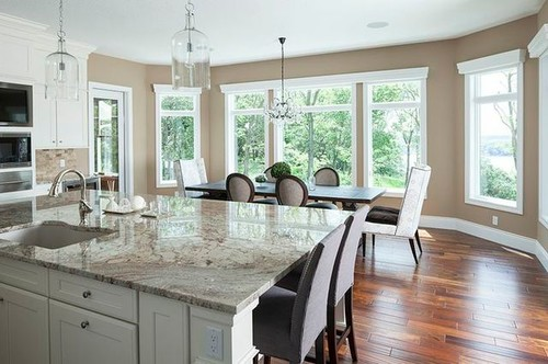 The pendant lights are perfect clear glass so you see right thru mozeypictures Images