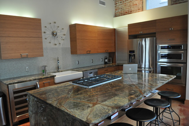 Lewis Downtown Lofts Contemporary Kitchen Oklahoma City By Urban Kitc