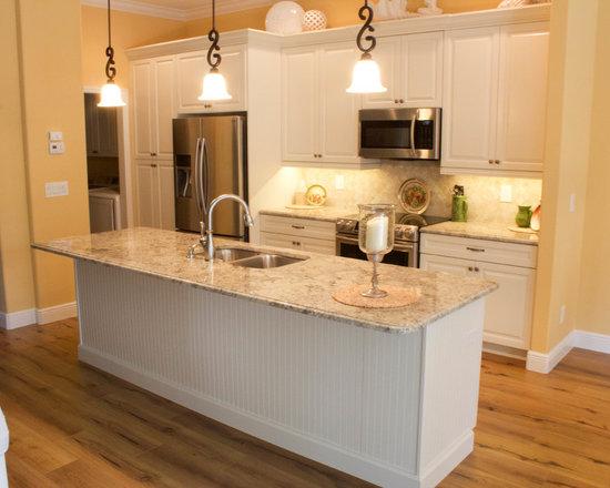 Shabby Chic Style Beige Stone Backsplash Home Design Photos Decor