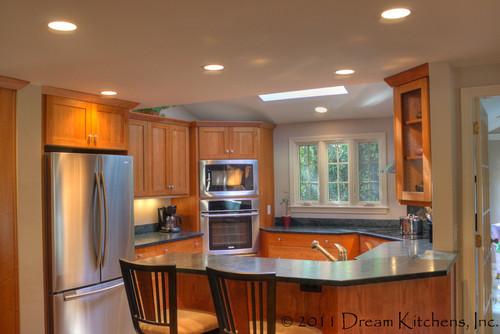 Dream Kitchens Nashua Nh. Wood Kitchens Medium Wood Tone ...