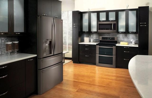 Lg Black Stainless Steel Liances Modern Kitchen New