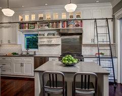 Library ladder in Kitchen craftsman-kitchen