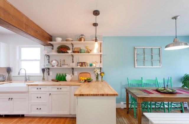 厨房背景墙混搭风格装修效果图