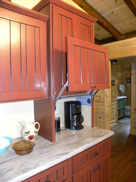 Lift Up Door On Appliance Garage Farmhouse Kitchen