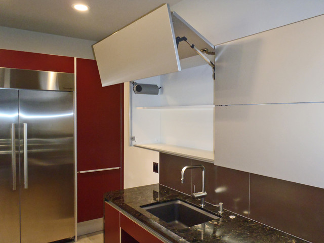 lift-up doors (automatic or manual) - contemporary - kitchen