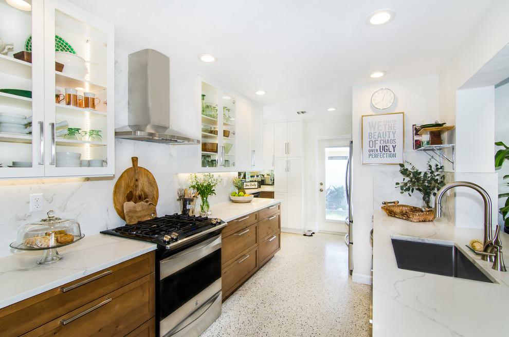 Light and bright Kitchen - Midcentury - Kitchen - Miami ...