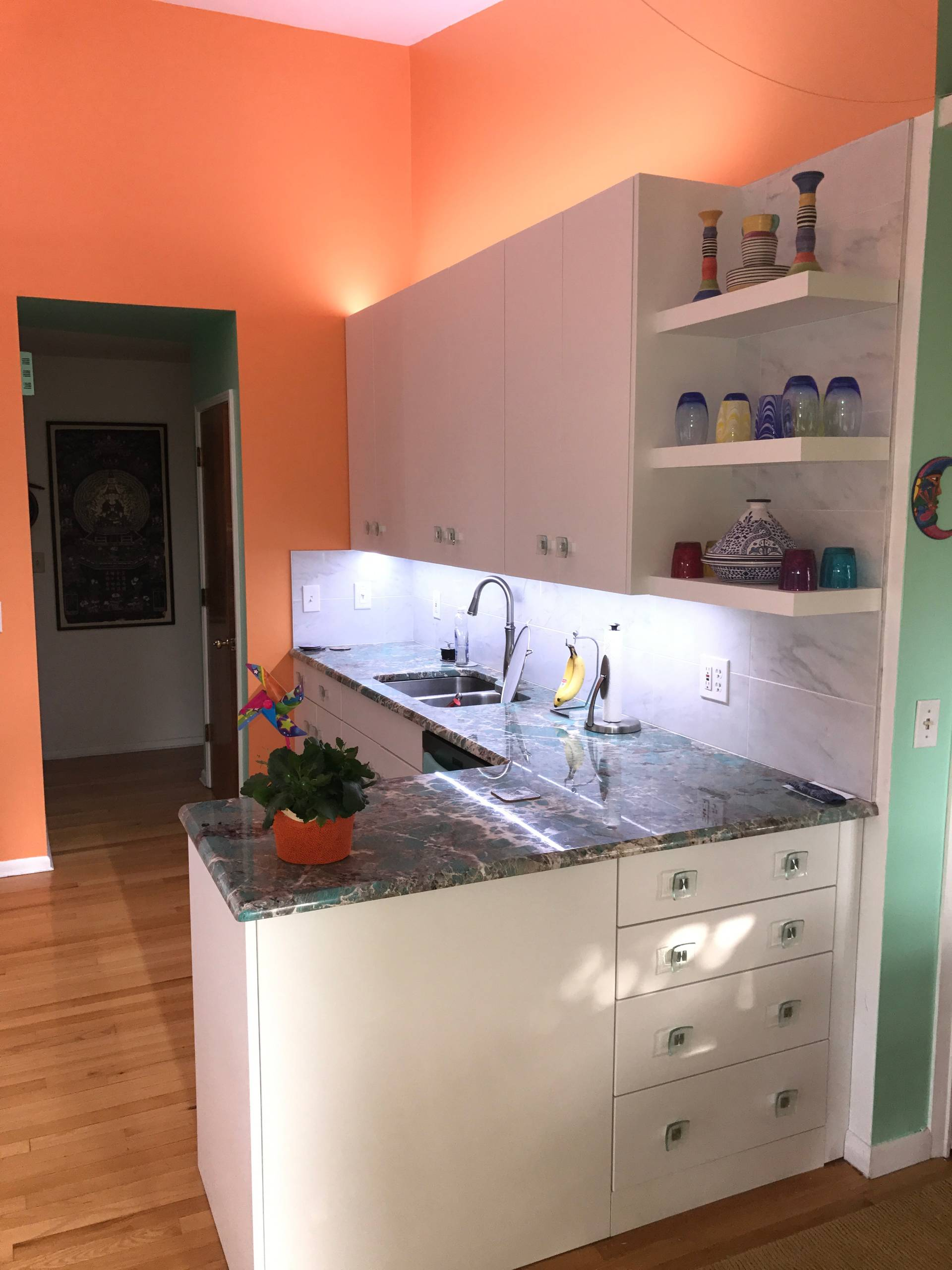 light and brite white kitchen