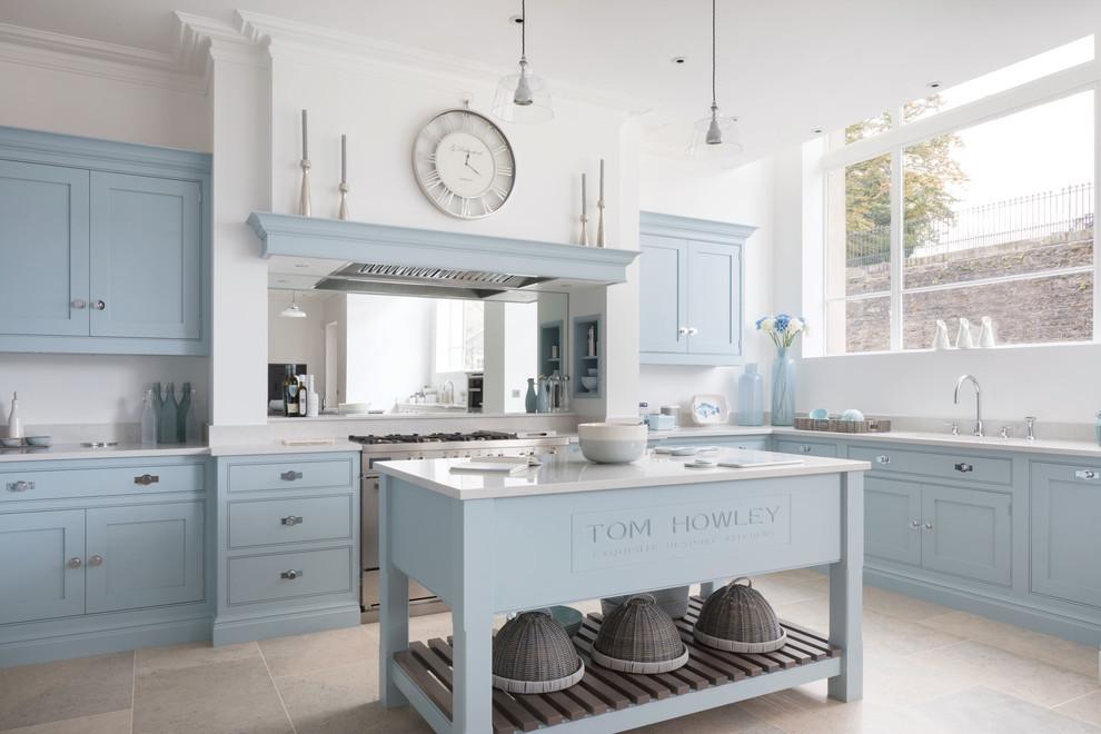 Light Blue Traditional Shaker Kitchen Traditional Kitchen Edinburgh By Tom Howley Houzz