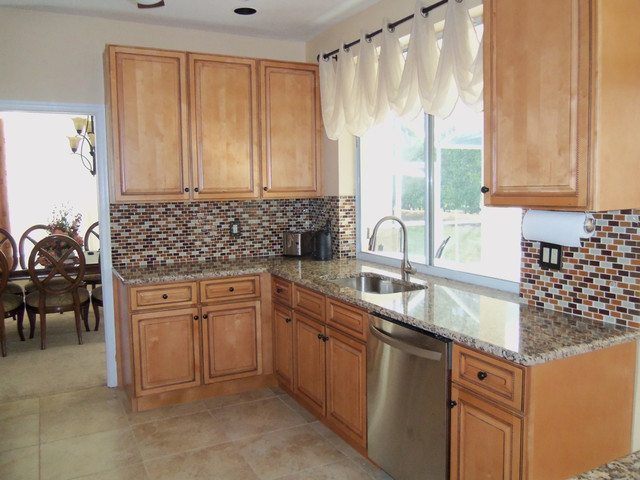 Sandstone Color Kitchen Cabinets