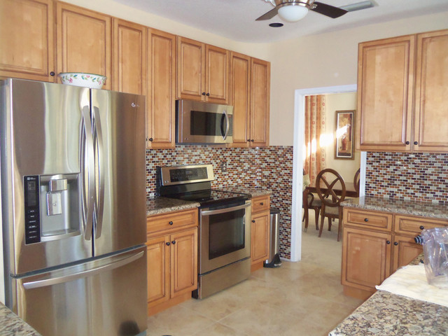 Light Brown Kitchen Cabinets