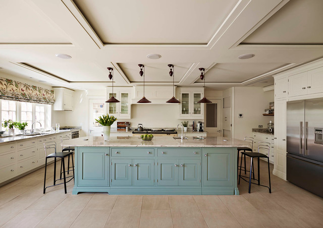 Light Coloured Hand Painted Kitchen In Traditional English Design Country Kitchen Other By Mark Wilkinson Kitchens Harrogate Houzz Nz