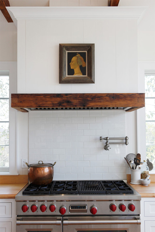 farmhouse kitchen Beauty Meets Function: Range Hoods