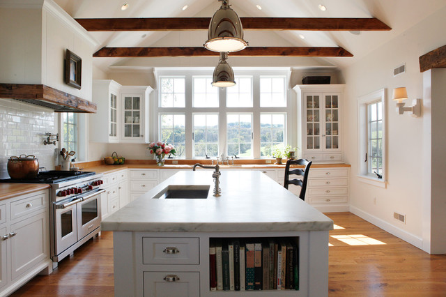 Light farm kitchen farmhouse kitchen other metro for Farm style kitchen designs