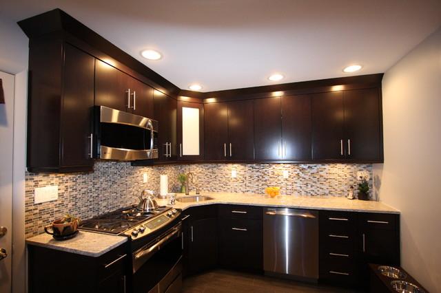Light Granite Kitchen Contemporary Kitchen New York By