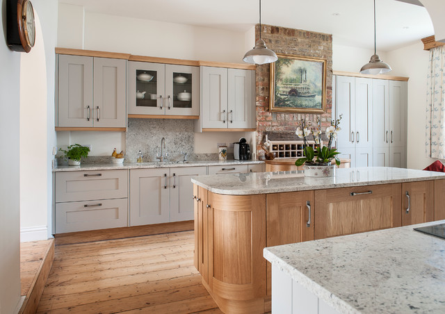 Light Grey And Timber Kitchen