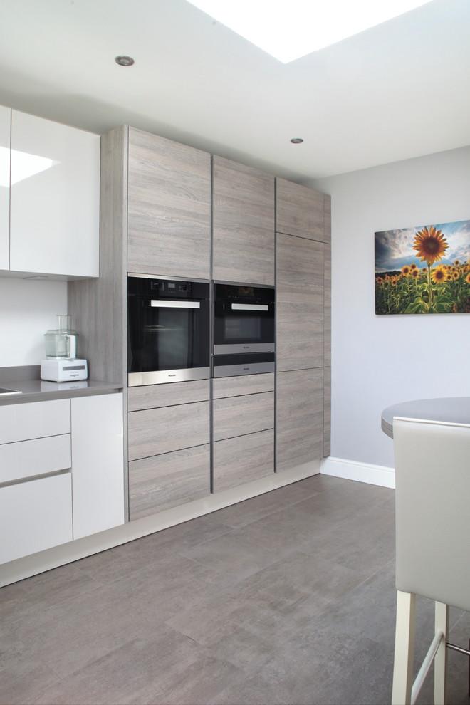 Light Grey High Gloss Cashmere, Gray Cashmere Kitchen Cabinets