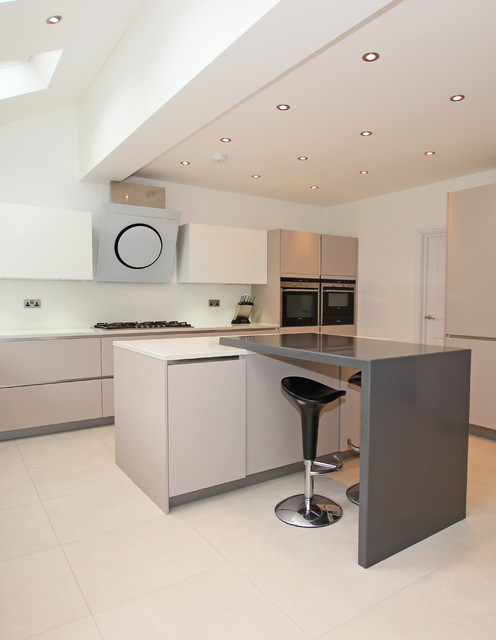 Light grey matt kitchen modern kitchen london by for Modern kitchen london