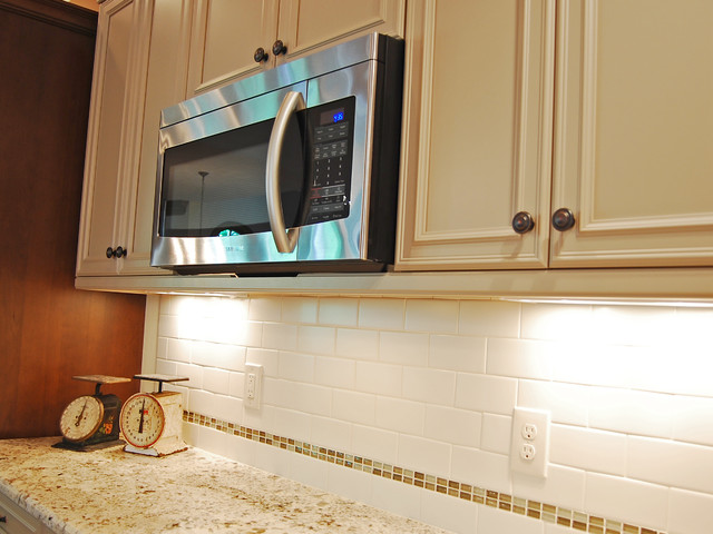 Light Rail Under Microwave Traditional Kitchen Raleigh By Anne Paul