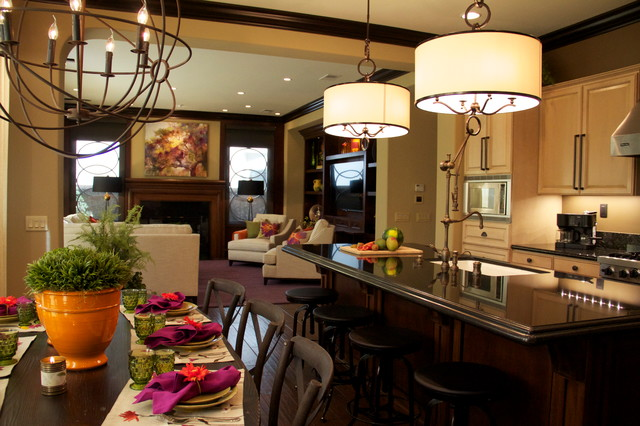Lighting A Kitchen And Dining Room Contemporary Kitchen San Diego By Robeson Design