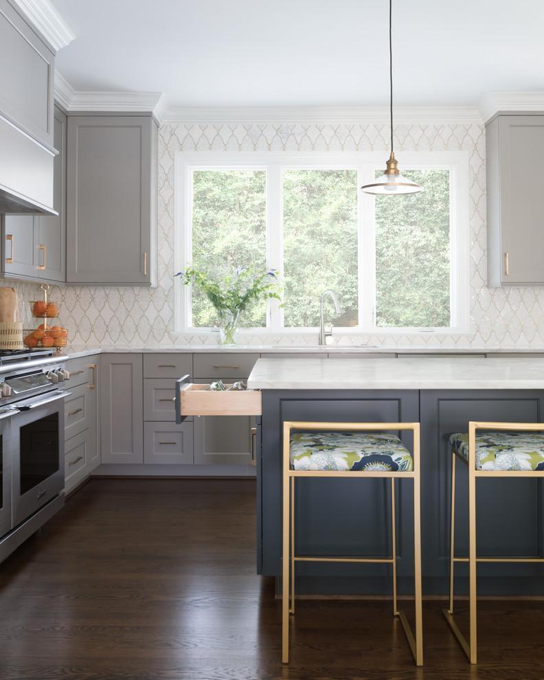 Kitchen - transitional kitchen idea in Charlotte