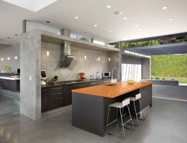 lima residence modern kitchen - Contemporary Kitchen Floors