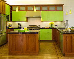 Lime Green Craftsman Kitchen craftsman kitchen