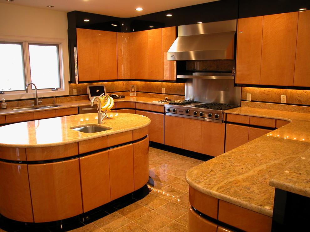 Lincoln, Rhode Island - Contemporary - Kitchen ...