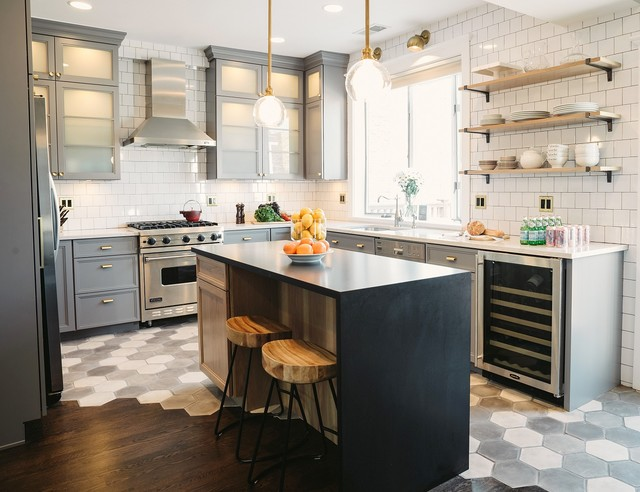 Lincoln Square Kitchen Featured In House Beautiful Transitional Kitchen