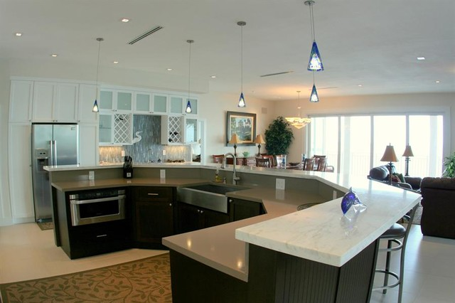 Linear Diffusers Transitional Kitchen