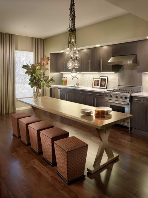 Kitchen Room Interior Design: Linear Luxe Kitchen