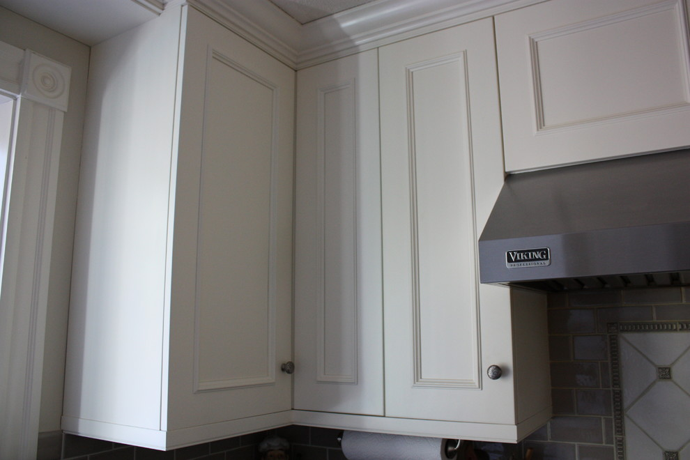Linen White Painted Kitchen Cabinets - Transitional ...