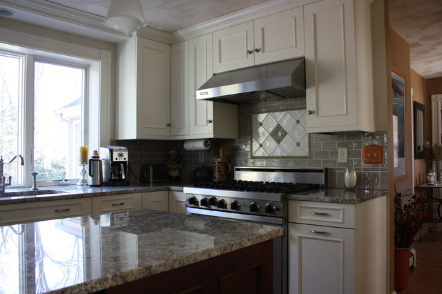 Linen White Painted Kitchen Cabinets Transitional Kitchen
