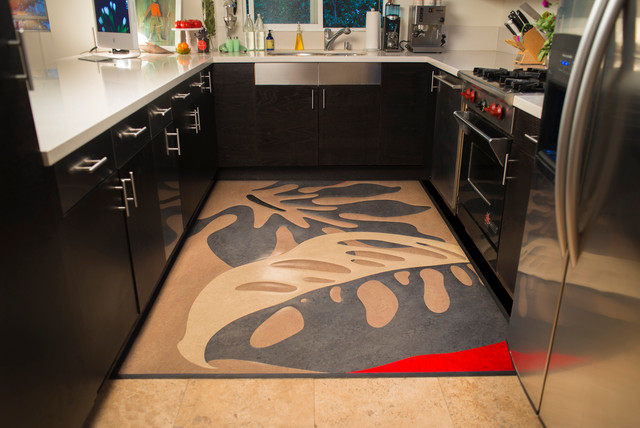 Linoleum Rugs Modern Kitchen