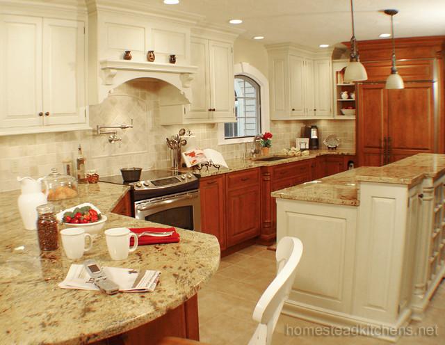 Littleton Curved Peninsula - Traditional - Kitchen - Boston - by ...