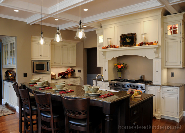Littleton Mantle Hood Traditional Kitchen Boston