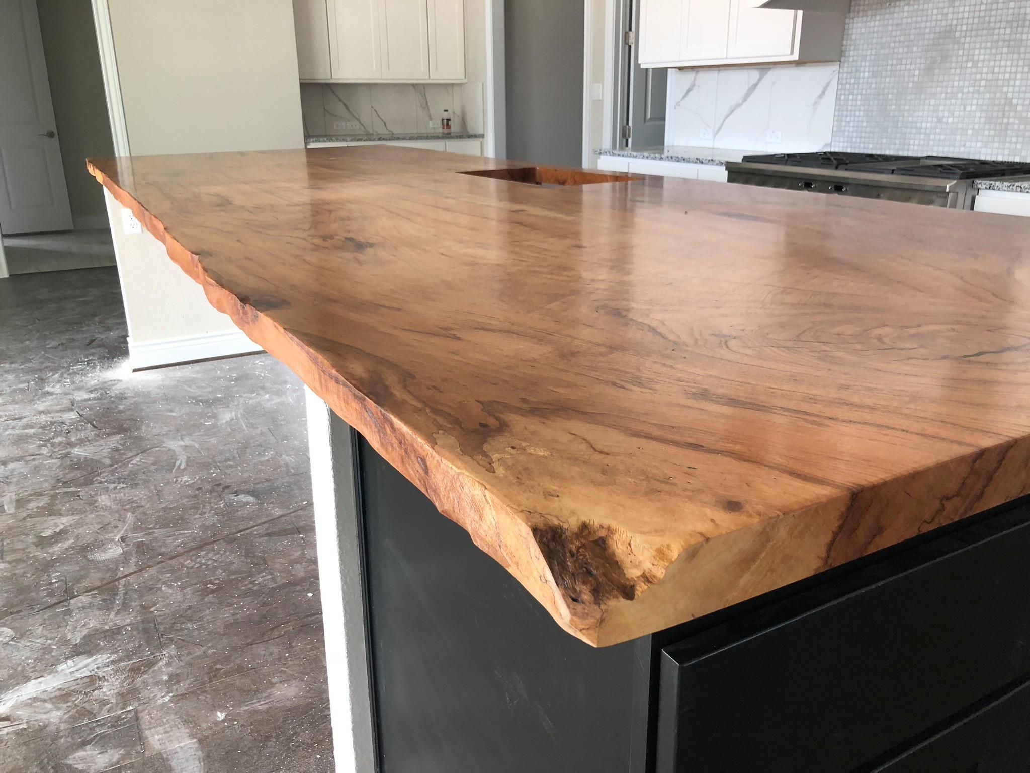 Live Edge Slabs Create Beautiful Counter tops