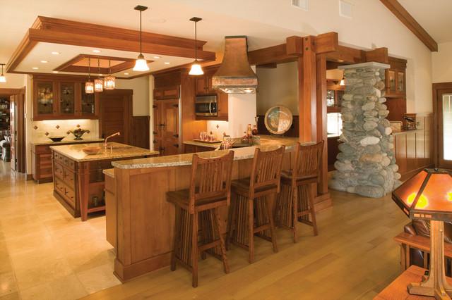 Live Oak Canyon Residence craftsman-kitchen