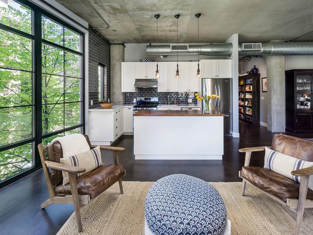 Living Room Kitchen Industrial Kitchen Portland