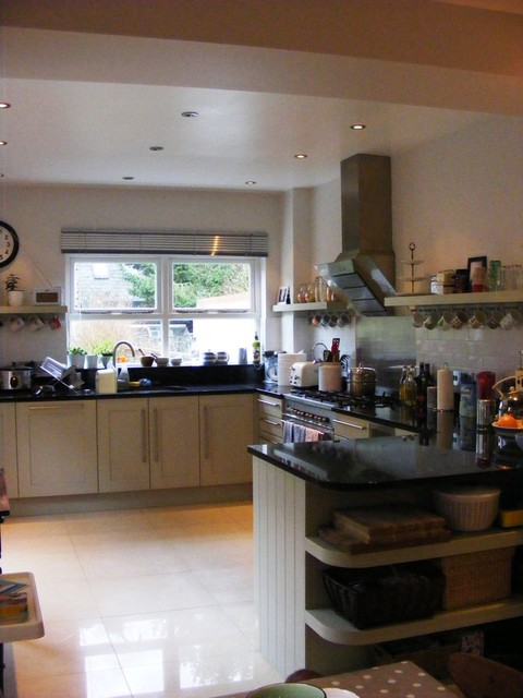Liz & Jon: Floating Shelves kitchen