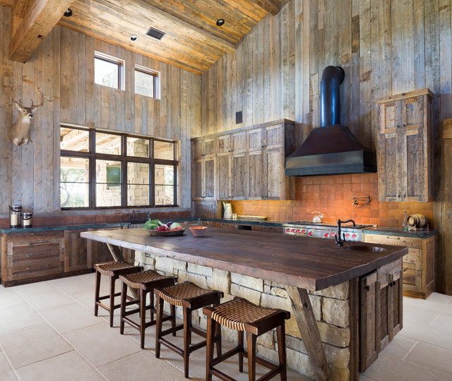 Cornerstone Architects llano ranch - rustic - kitchen - austin -cornerstone architects