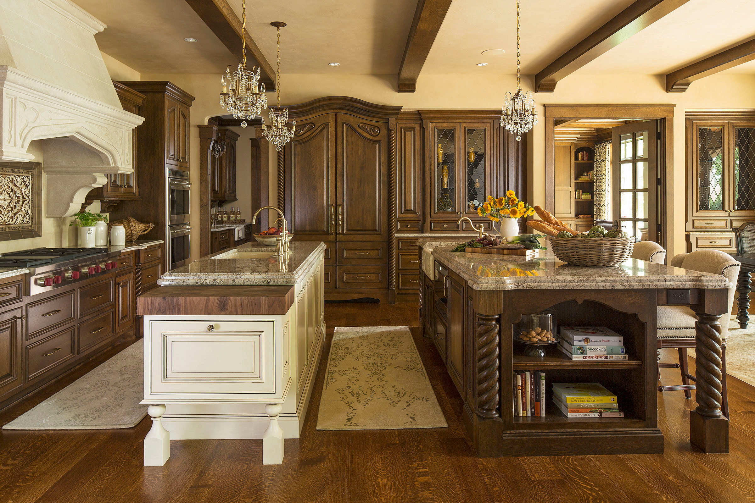 Cream Cabinets With Dark Island Ideas Photos Houzz