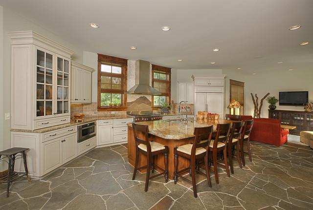 Naperville Custom Home contemporary-kitchen