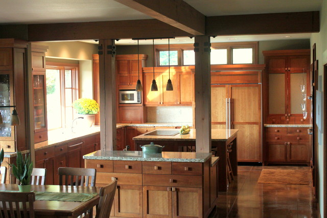 lodge style kitchen traditional kitchen seattle by